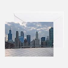 Illinois, Chicago. Millenium Park. Greeting Card