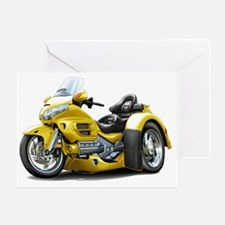 Goldwing GL1800 Yellow Trike Greeting Card