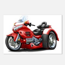 Goldwing GL1800 Red Trike Postcards (Package of 8)