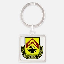 215 SUPPORT BATTALION Square Keychain