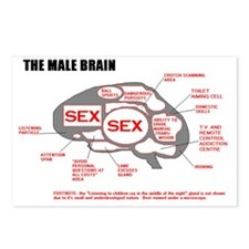 MALE BRAIN Postcards (Package of 8)