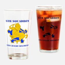 60 9TH CAV RGT Drinking Glass