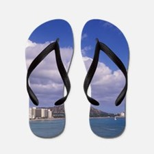 Hawaii, Honolulu, Waikiki Beach with Di Flip Flops