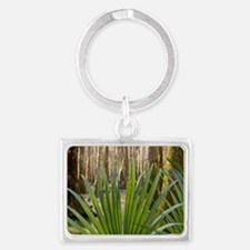 Palmetto leaves inside of a flo Landscape Keychain