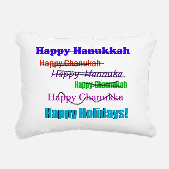 happyhanukkah Rectangular Canvas Pillow