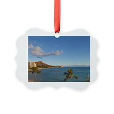 Waikiki Beach, Honolulu, Oahu, Ha Ornament