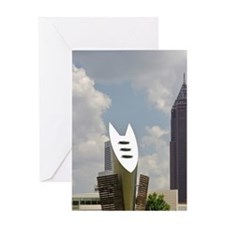 With the Bank of America Plaza build Greeting Card