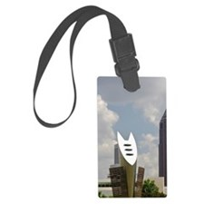 With the Bank of America Plaza b Luggage Tag