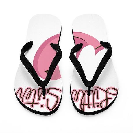 PinkBirdGettingLittleSister Flip Flops