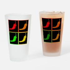ChiliPepperPopArt Drinking Glass