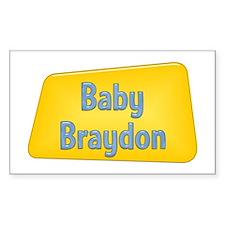 Baby Braydon Rectangle Decal