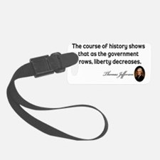 Jefferson-course-of-history-(sma Luggage Tag
