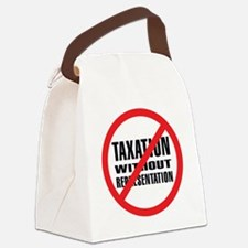 NO Taxation without Representatio Canvas Lunch Bag