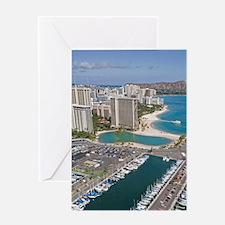 Ala Wai Yacht HarborWaikiki Beach, W Greeting Card