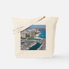 Ala Wai Yacht HarborWaikiki Beach, Waikik Tote Bag