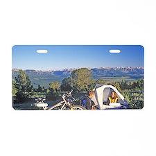 Mountain bikers campsite at Aluminum License Plate
