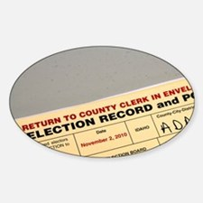 Election Record and Poll Book at a  Sticker (Oval)
