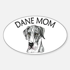 MerleB UC Dane Mom Oval Decal