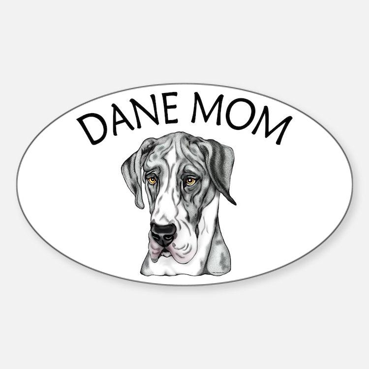 MerleB UC Dane Mom Oval Decal