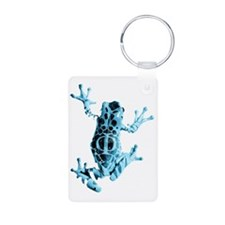 Frog Glyph Aluminum Photo Keychain