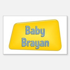 Baby Brayan Rectangle Decal