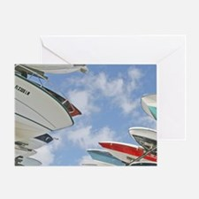 Small boat rack storage Coconut Grov Greeting Card