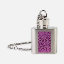 Pinkhearts41_iphone_case Flask Necklace