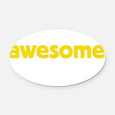 awesomeDrk Oval Car Magnet
