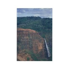 Hawaii, Kauai Waterfall in Waimea Rectangle Magnet