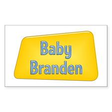 Baby Branden Rectangle Decal