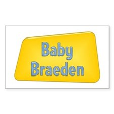 Baby Braeden Rectangle Decal