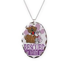 Rescued-Is-My-Favorite-Breed Necklace