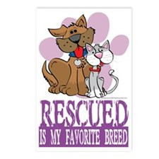 Rescued-Is-My-Favorite-Br Postcards (Package of 8)