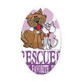 Spay and neuter Oval Car Magnets