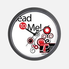 read to me shirt Wall Clock
