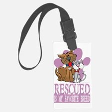 Rescued-Is-My-Favorite-Breed-blk Luggage Tag