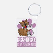 Rescued-Is-My-Favorite-Bre Keychains