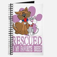 Rescued-Is-My-Favorite-Breed-blk Journal