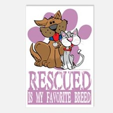 Rescued-Is-My-Favorite-Br Postcards (Package of 8)