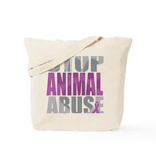 Stop-Animal-Abuse-2010-blk Tote Bag