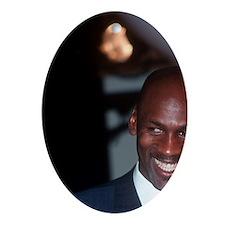 Basketball legend Michael Jordan lau Oval Ornament