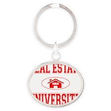 RealEstateUniversity Oval Keychain