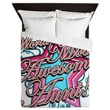 Worlds Most Awesome Aunt Queen Duvet