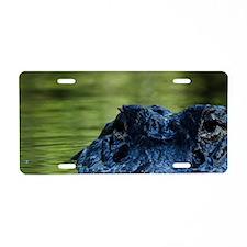 American alligator (Alligat Aluminum License Plate