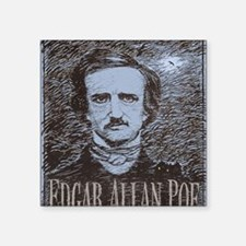 "Edgar Allan Poe Square Sticker 3"" x 3"""