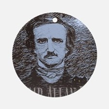 Edgar Allan Poe Round Ornament