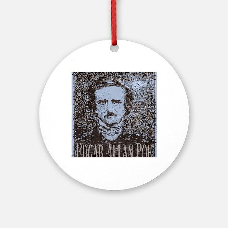 Edgar Allan Poe Round Ornament
