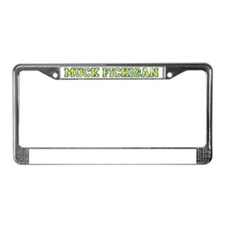 MuckFichigan_yel_bl_wh License Plate Frame