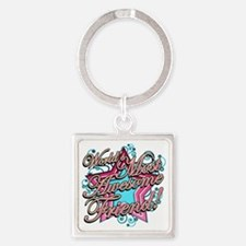 Worlds Most Awesome Friend Square Keychain