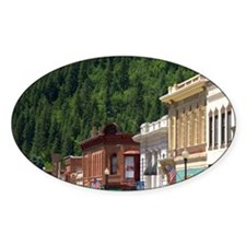 Main street and old brick buildings Decal